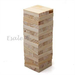 CUBE ÉVEIL 48pcs Bloc Cube de Construction en Bois Jouet Jeu