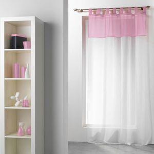rideaux rose et blanc achat vente rideaux rose et blanc pas cher cdiscount. Black Bedroom Furniture Sets. Home Design Ideas