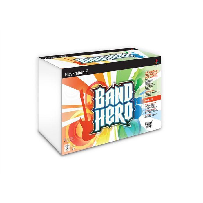 JEU PS2 SUPER PACK BAND HERO (jeu + guitare + batterie + m