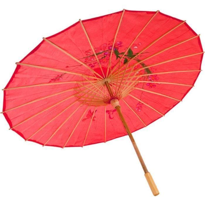Chinois japonais parapluie ou parasol et aussi pour danse et cos rouge achat vente - Parasol de marche pas cher ...