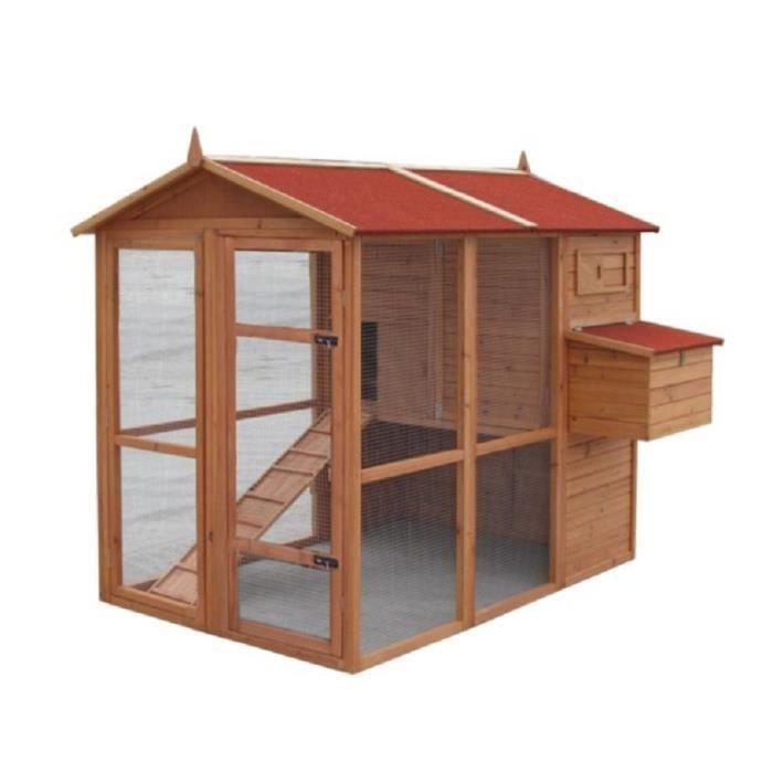 Poulailler truffaut toutankhamon poulailler for Plan construction composteur bois