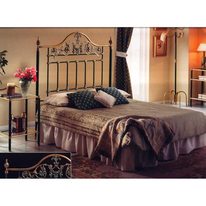 T te de lit en laiton et m tal ou lit complet achat - Tete de lit fer forge pas cher ...