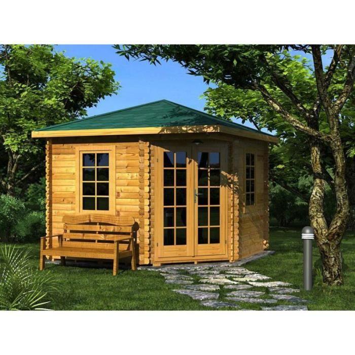 abri de jardin avec plancher carole 3 x 3 28 mm achat vente abri jardin chalet abri de. Black Bedroom Furniture Sets. Home Design Ideas