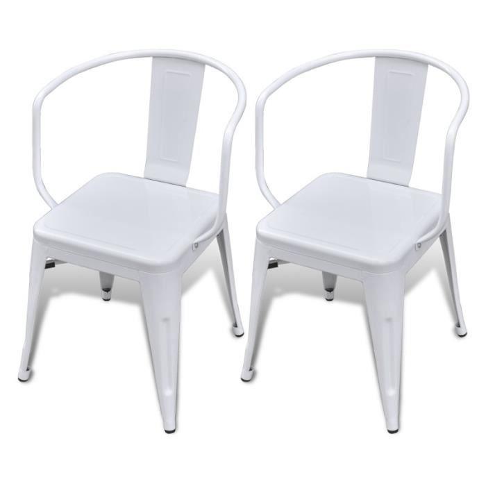 2 chaises de cuisine salon salle manger design acier for Salle a manger factory