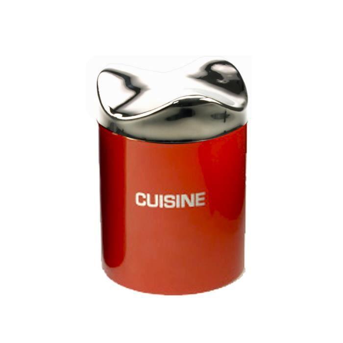 Bo te de cuisine moderne inox rouge couverc achat for Maison rouge boite de nuit