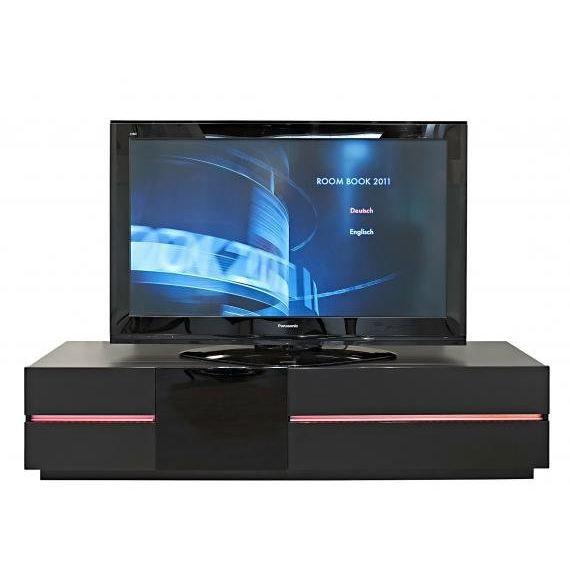 meuble tv media home laqu noir et verre noir achat vente meuble tv meuble tv media home. Black Bedroom Furniture Sets. Home Design Ideas