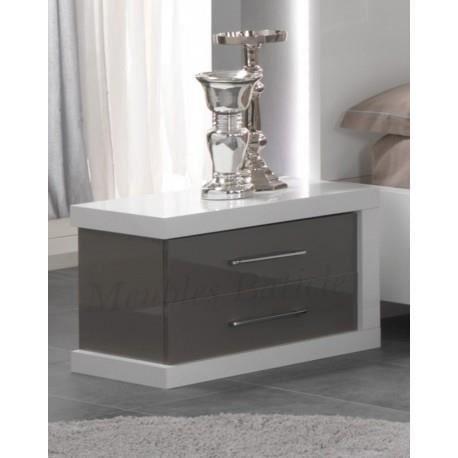 chevet ancona laqu gris achat vente chevet chevet ancona laqu gris cdiscount. Black Bedroom Furniture Sets. Home Design Ideas