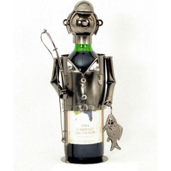 Porte bouteille m tal p cheur la ligne achat vente for Porte 6 bouteilles metal