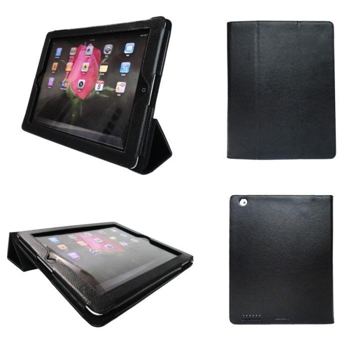 housse ipad 2 3 et ipad 4 retina noire pliable prix pas cher cdiscount. Black Bedroom Furniture Sets. Home Design Ideas