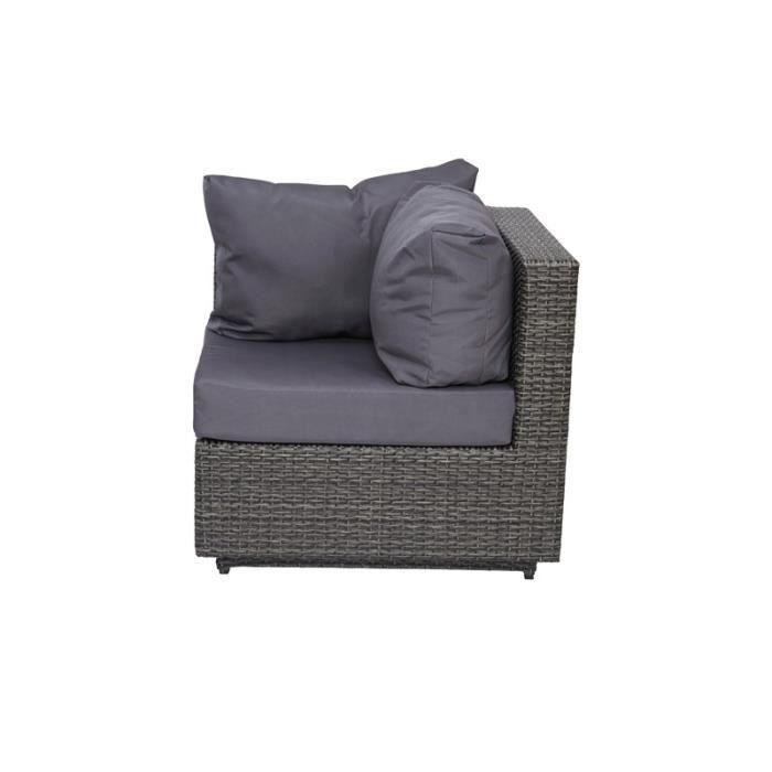 fauteuil de jardin d 39 angle en r sine gris achat vente. Black Bedroom Furniture Sets. Home Design Ideas