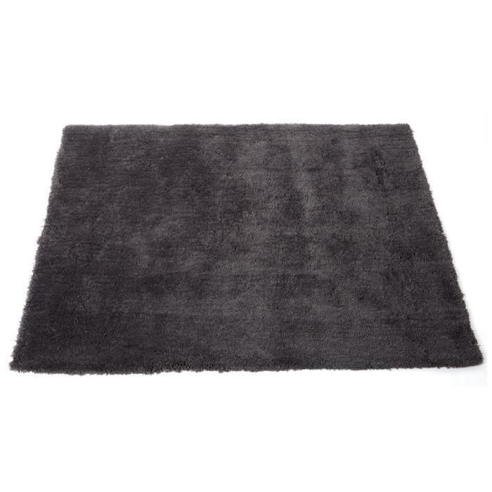 tapis doux microfibres coloris gris 120 x 170 cm achat vente tapis cdiscount. Black Bedroom Furniture Sets. Home Design Ideas