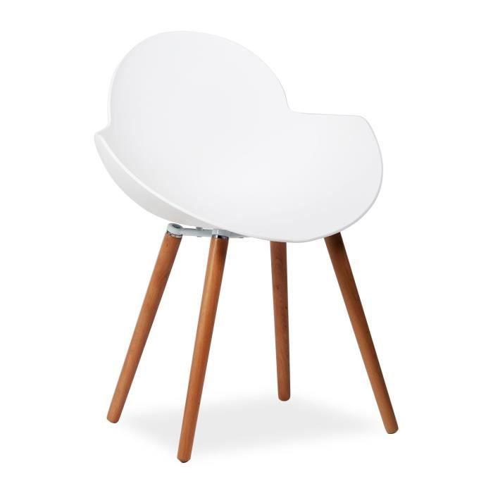 chaise belly pieds en bois de hetre blanc unica achat vente chaise blanc cdiscount. Black Bedroom Furniture Sets. Home Design Ideas