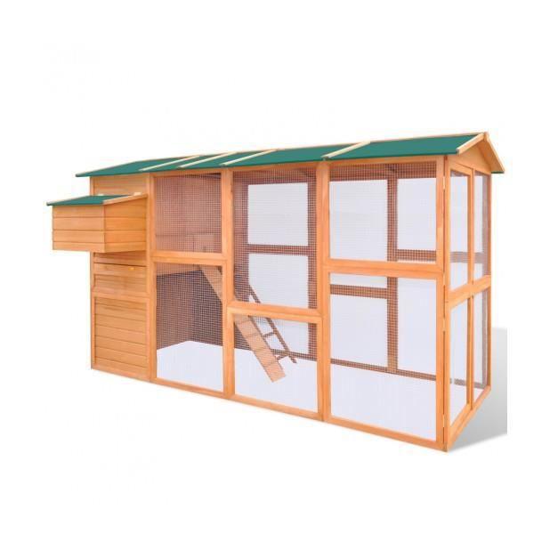 superbe grande cage poules ou poulailler en bois achat. Black Bedroom Furniture Sets. Home Design Ideas