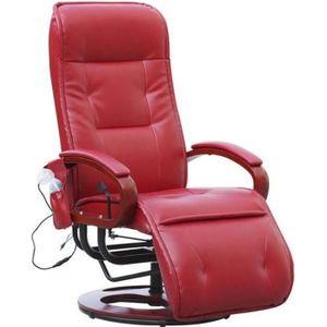 fauteuil rouge achat vente fauteuil rouge pas cher cdiscount. Black Bedroom Furniture Sets. Home Design Ideas