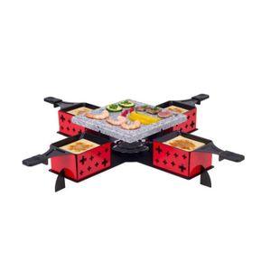 PIERRADE DE TABLE Service pierre à cuire et raclette Party,coloris r