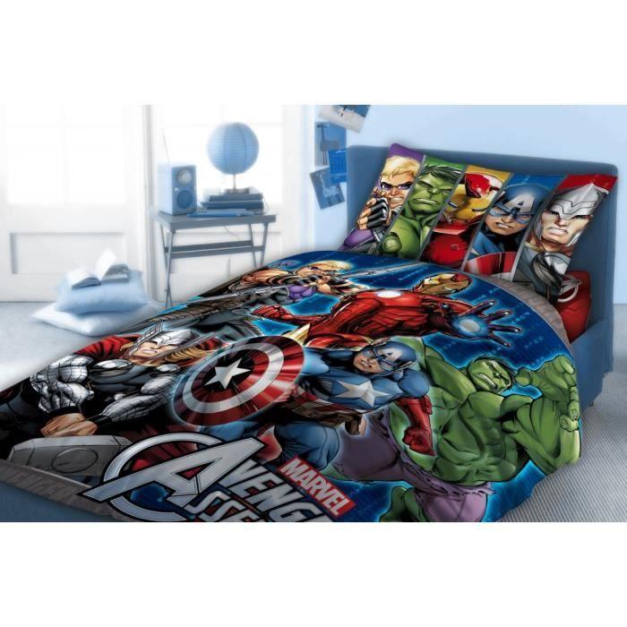 parure de couette 140 x 200 avengers achat vente parure de drap cdiscount. Black Bedroom Furniture Sets. Home Design Ideas