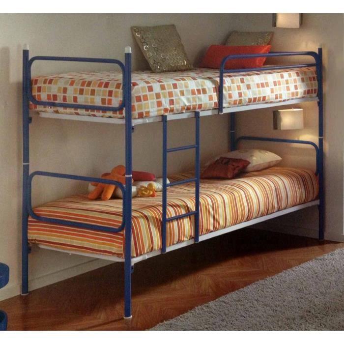 couchettes m talliques mod le tite 2 bleu achat vente lits superpos s couchettes. Black Bedroom Furniture Sets. Home Design Ideas
