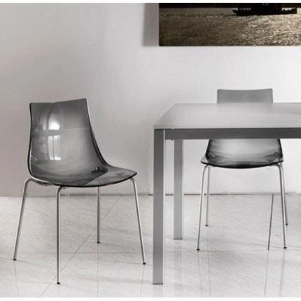 chaise en polycarbonate transparente design cayel lot de 2 rouge achat vente chaise rouge. Black Bedroom Furniture Sets. Home Design Ideas