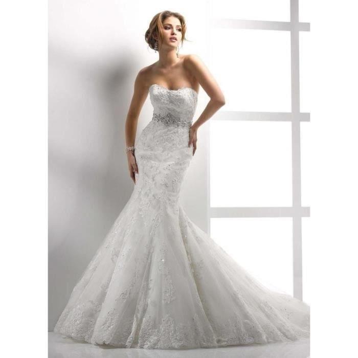 Robe de mariée/soirée : SUR MESURE Blanc - Achat / Vente robe de ...