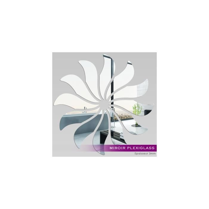 Miroir plexiglass acrylique fleur 4 ref mir 112 achat for Miroir qui s ouvre