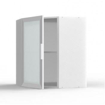 Meuble haut d 39 angle ebene 1 porte vitr e avec c achat for Meuble avec porte vitree