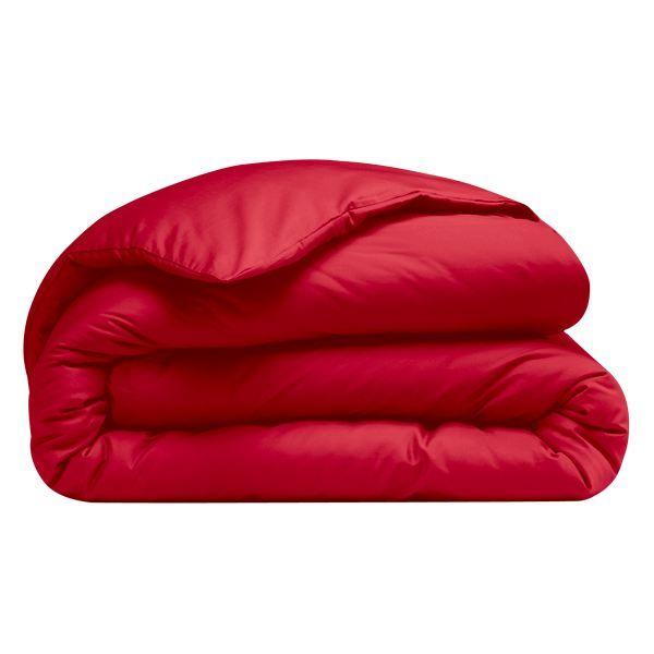housse de couette supercoton rouge 200x200cm achat vente housse de couette les soldes sur. Black Bedroom Furniture Sets. Home Design Ideas