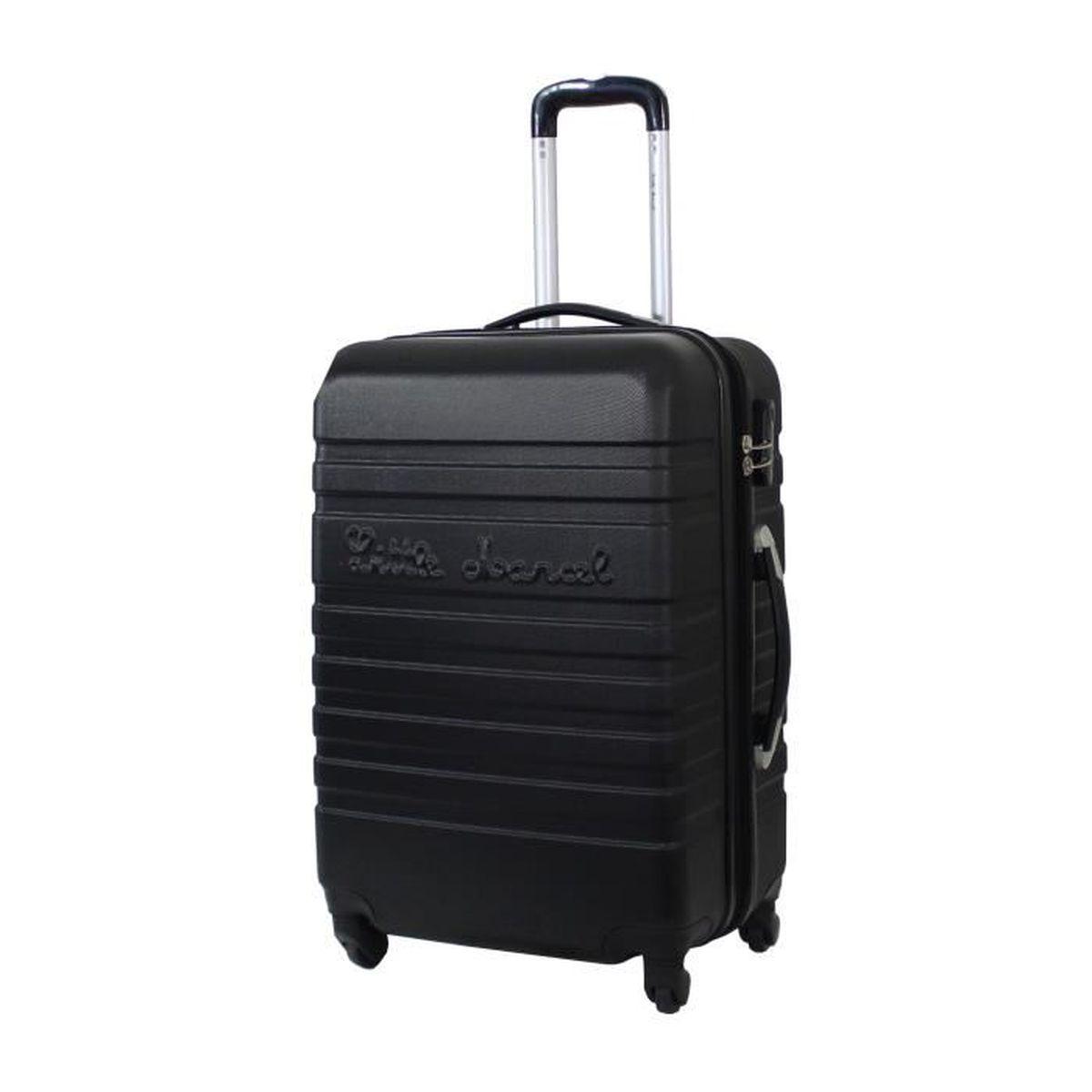 little marcel malette valise taille moyenne 65cm abs 4 roues noir noir achat vente. Black Bedroom Furniture Sets. Home Design Ideas