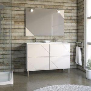 meuble lavabo avec pied achat vente meuble lavabo avec pied pas cher cdiscount. Black Bedroom Furniture Sets. Home Design Ideas