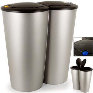 poubelle double achat vente poubelle double pas cher cdiscount. Black Bedroom Furniture Sets. Home Design Ideas