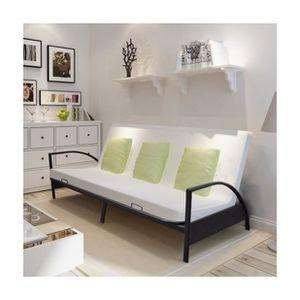 structure futon achat vente structure futon pas cher soldes cdiscount. Black Bedroom Furniture Sets. Home Design Ideas