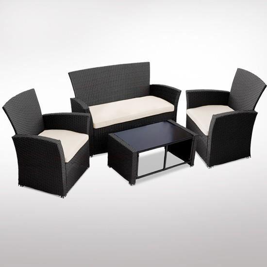 Salon De Jardin Ensemble Canap Fauteuil Chaise Table R Sine Tress E Achat Vente Salon De