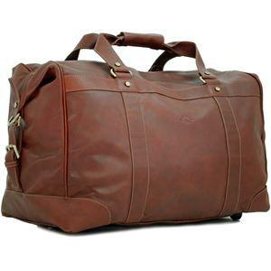 sac de voyage trolley cuir hamon marron marron achat. Black Bedroom Furniture Sets. Home Design Ideas