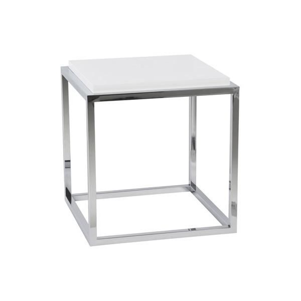Cube de rangement 39 multy 39 blanc empilable achat vente table basse - Cube de rangement blanc laque ...