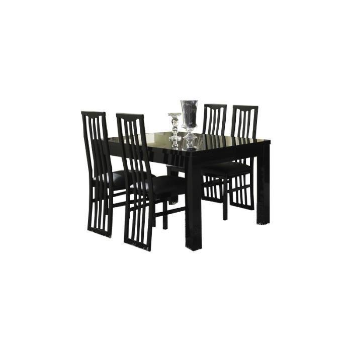 Table manger roma noir en 160cm sans chaises achat vente table a mang - Discount table a manger ...