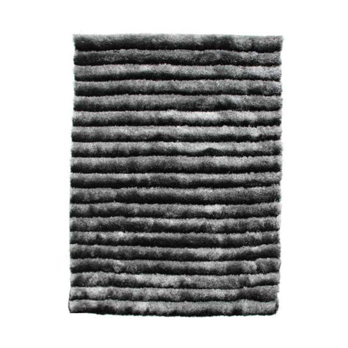 tapis vince gris noir 190x133cm achat vente tapis cdiscount. Black Bedroom Furniture Sets. Home Design Ideas
