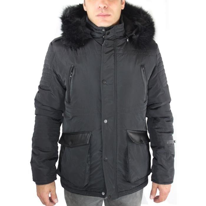 veste en jean fourrure homme achat vente veste en jean fourrure homme pas cher cdiscount. Black Bedroom Furniture Sets. Home Design Ideas