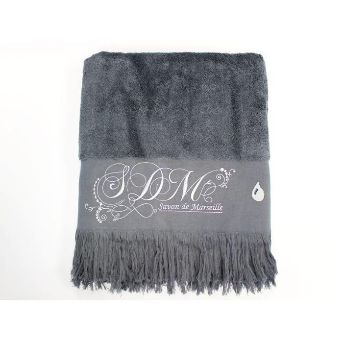 drap de bain romantique ardoise achat vente serviettes. Black Bedroom Furniture Sets. Home Design Ideas