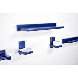 Meuble salle de bain bleu achat vente meuble salle de for Kit meuble salle de bain