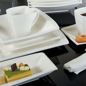 Assiette rectangulaire achat vente assiette for Service de table rectangulaire