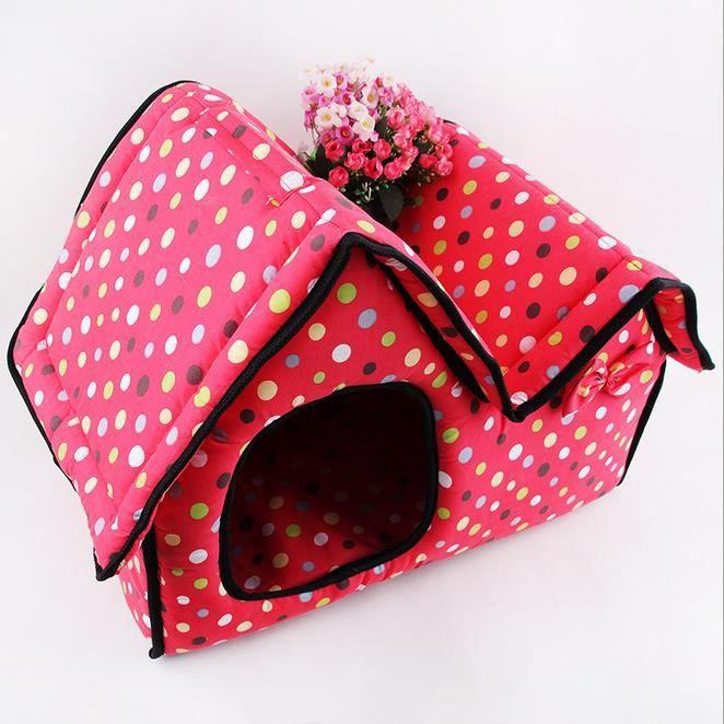 demart petite maison pour chien chat rose achat vente cage demart petite maison pour c les. Black Bedroom Furniture Sets. Home Design Ideas
