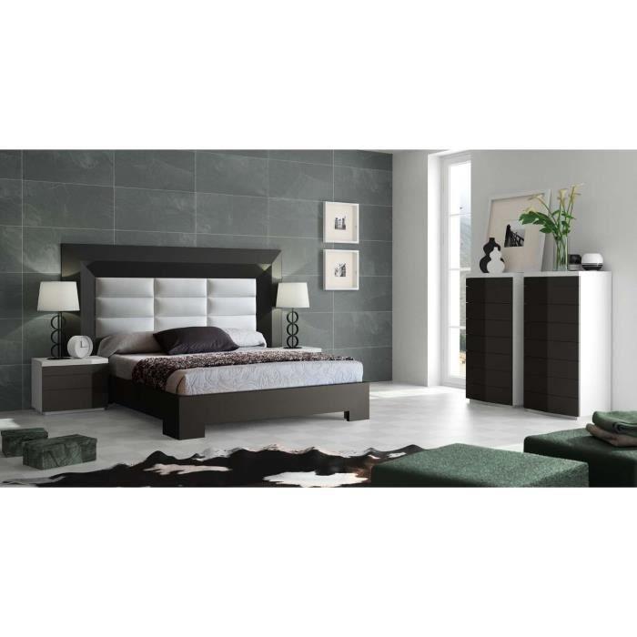 T tes de lits et lits en bois et pu mod le gordon line rectangulaire ach - Modele tete de lit en bois ...