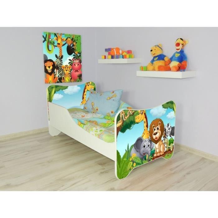lit enfant animaux sommier matelas 160x80cm achat vente lit complet lit pour enfant cdiscount. Black Bedroom Furniture Sets. Home Design Ideas