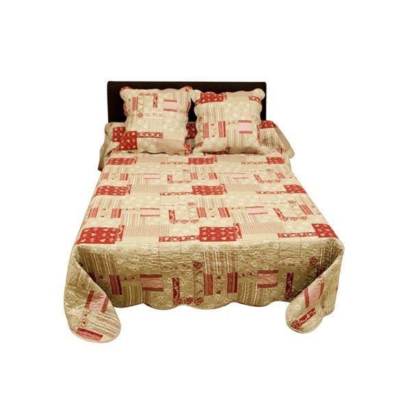 couvre lit beaufort 2 places taies achat vente jet e de lit boutis cdiscount. Black Bedroom Furniture Sets. Home Design Ideas