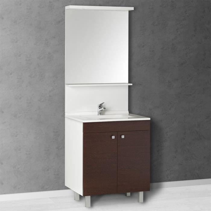 meuble salle de bain 1 vasque bonifacio 70 we achat vente meuble vasque plan meuble. Black Bedroom Furniture Sets. Home Design Ideas