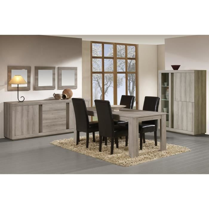 Salle manger compl te avec meuble bar coloris mara prix r duit mara achat vente salle - Salle a manger complete industrielle ...