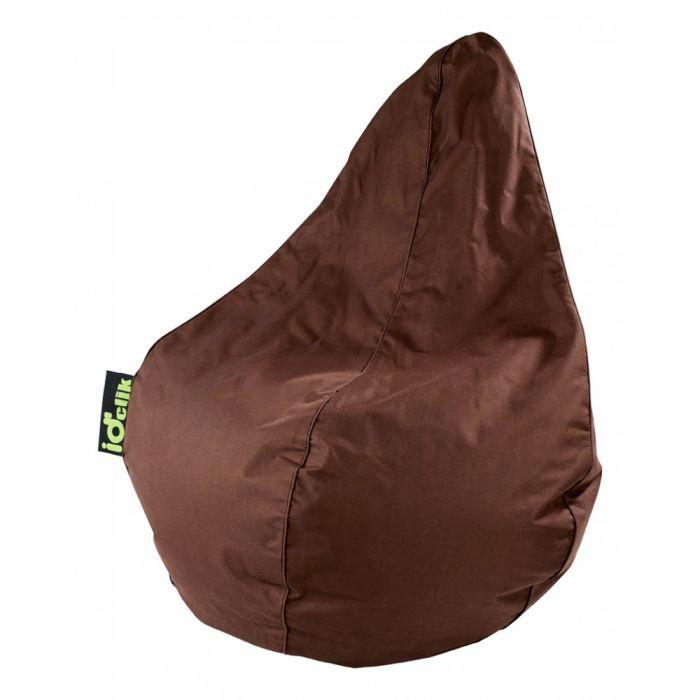 poire fanny chocolat id 39 clik achat vente pouf poire cdiscount. Black Bedroom Furniture Sets. Home Design Ideas