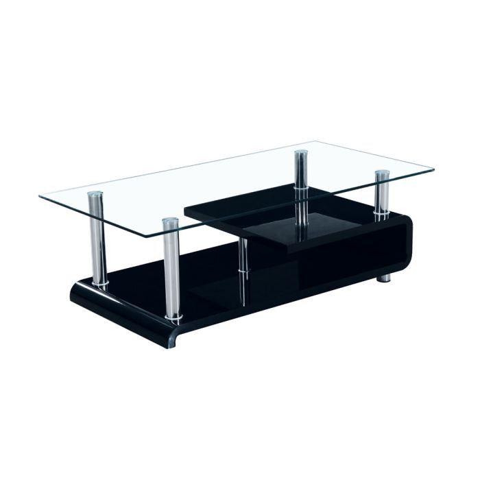 Les concepteurs artistiques table basse en verre cdiscount for Table en verre basse