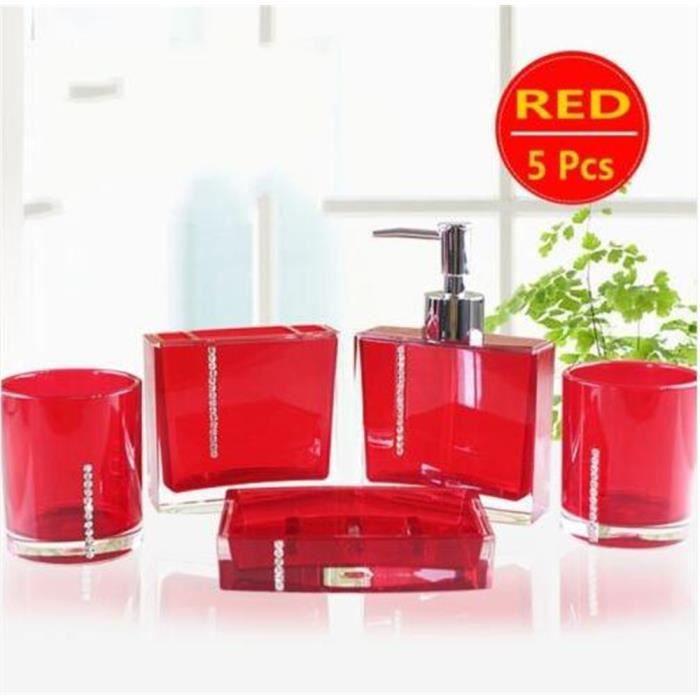 Accessoire salle de bain rouge achat vente accessoire for Accessoire salle de bain pas cher