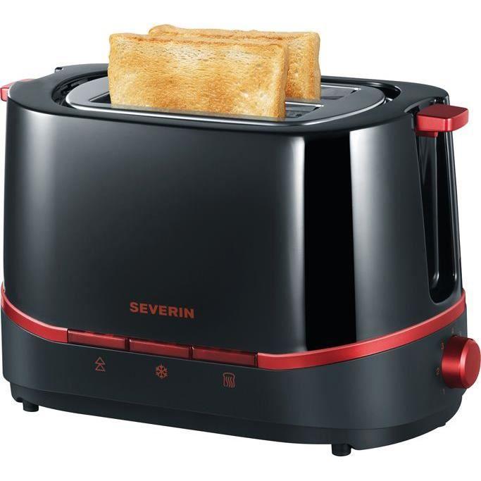 Severin 2292 grille pain noir rouge m tallis achat vente grille pain toaster cdiscount - Grille pain cuisinart cpt160e ...