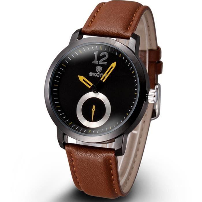 sharphy montre homme de marque sport bracelet en cuir tanche achat vente montre sharphy. Black Bedroom Furniture Sets. Home Design Ideas